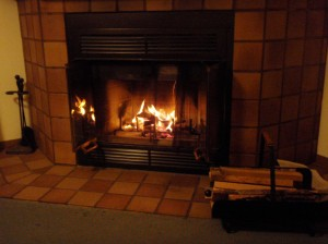 Fireplace at Cragun's Resort
